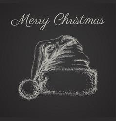 Santa hat isolated hand drawn llustration vector
