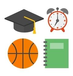 School symbols set vector