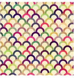 Seamless circular abstract pattern vector