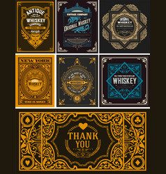 seven cards for packing vector image vector image