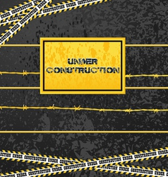 under construction industrial design vector image