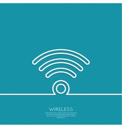 wireless and wifi icons vector image