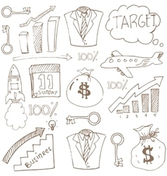 Doodle of business theme stock collection vector