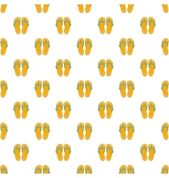 Flip flops pattern cartoon style vector