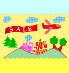 Discounts banner sales vector