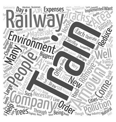 Trains and the environment text background vector