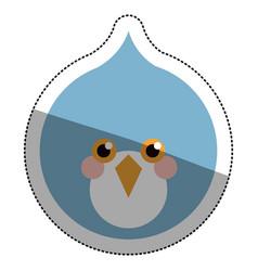 Isolated bird cartoon design vector