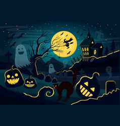 Silhouettes of ghosts vector