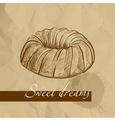 sweet cake vector image