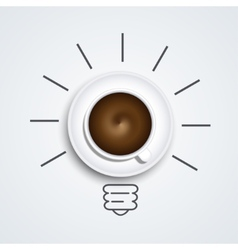 idea with coffee modern busines background vector image