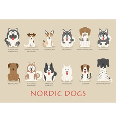 Set of nordic dogs vector