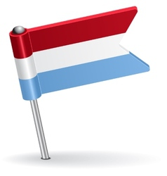 Luxembourg pin icon flag vector