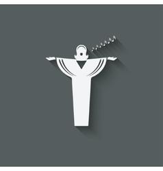 Opera singer symbol vector