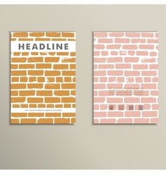 Cover book with background color brickwork vector
