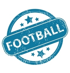 Football round stamp vector