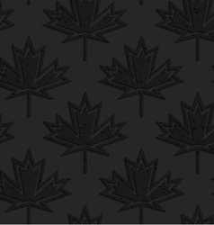 Black textured plastic maple leaves countered with vector