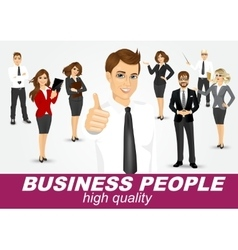 Set of diverse business people vector