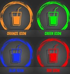 Soft drink icon fashionable modern style in the vector