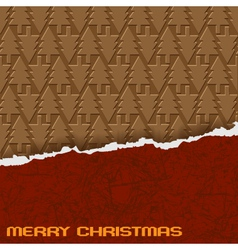 chocolate christmas background eps10 vector image