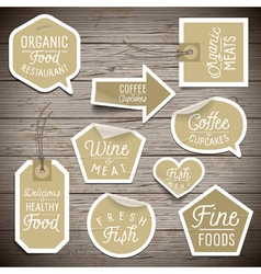slogans stickers food organic vector image