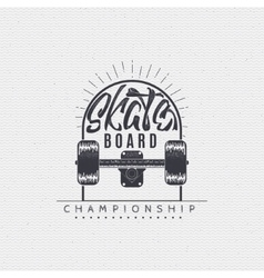 Skateboard - insignia badge label sign print vector