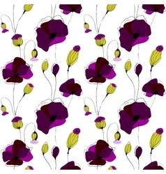 Poppy flower field vector