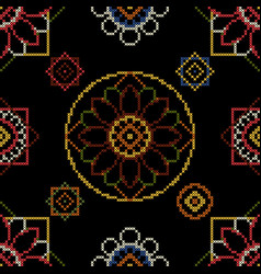 Abstract embroidery vector