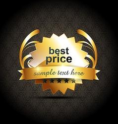 best price label vector image