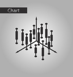 black and white style icon economic chart vector image