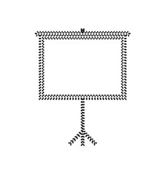 blank projection screen black dotted icon vector image vector image