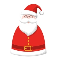 Christmas Label Icon with Santa Claus Isolated on vector image vector image