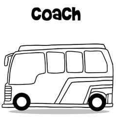 Coach bus of transportation vector