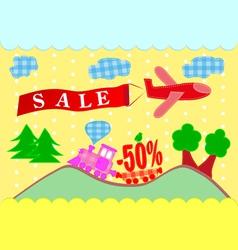 Discounts banner sales vector