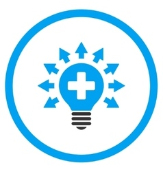 Disinfection lamp rounded icon vector