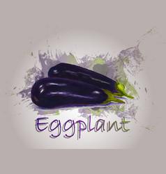 Eggplant watercolor food vector