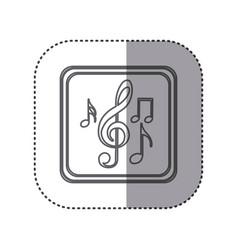 Figure emblem musical notes vector