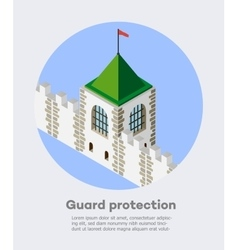 Fortress protection guard vector