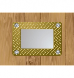 Gold metal plaque vector