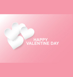Hearts paper cut stylepink vector