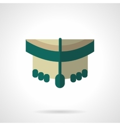 Longboard wheels flat color design icon vector