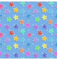Marine seamless pattern with colorful vector