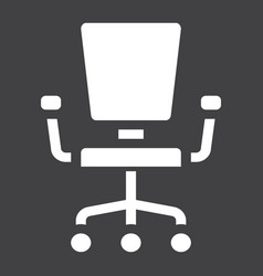 office chair solid icon furniture and interior vector image vector image