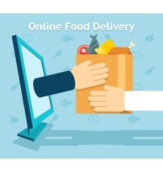 Online food delivery vector