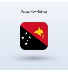 Papua new guinea flag icon vector