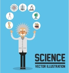 Science design Colorfull Cartoon vector image