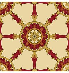 Seamless Vajra tibetan pattern vector image