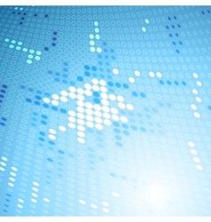 Shiny blue tech background vector
