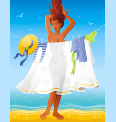 Summer people travel beach background beautiful vector