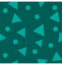 Triangle green seamless pattern vector image