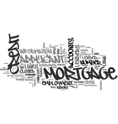 what does a mortgage lender look for on your vector image vector image